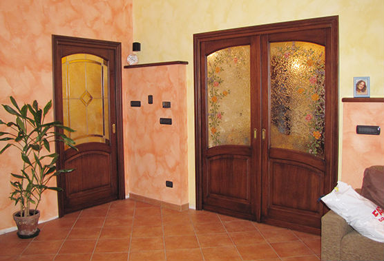 Awesome porte interne con vetro prezzi images for Vetri decorati per porte interne classiche